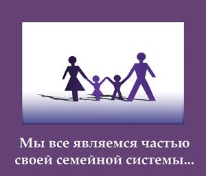 Мы все являемся частью своей семейной системы